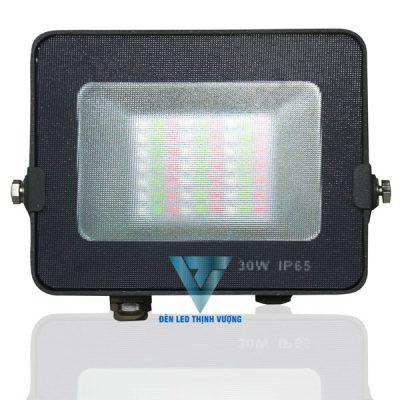 Đèn pha Led 30W siêu mỏng chiếu sáng ngoài trời 1