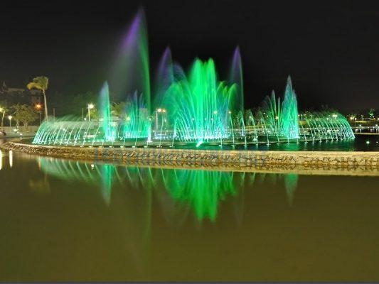 Đèn Led đài phun nước 8