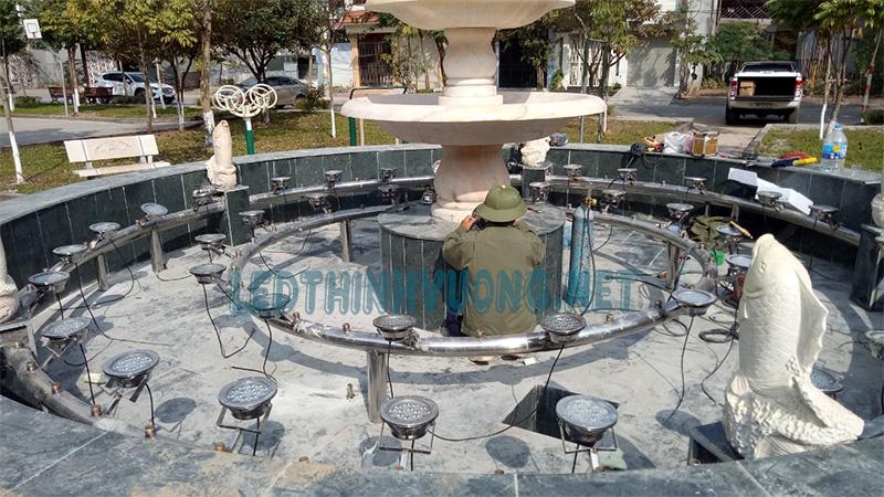 Đèn Led cho đài phun nước vườn hoa Nguyễn Quán Quang 2