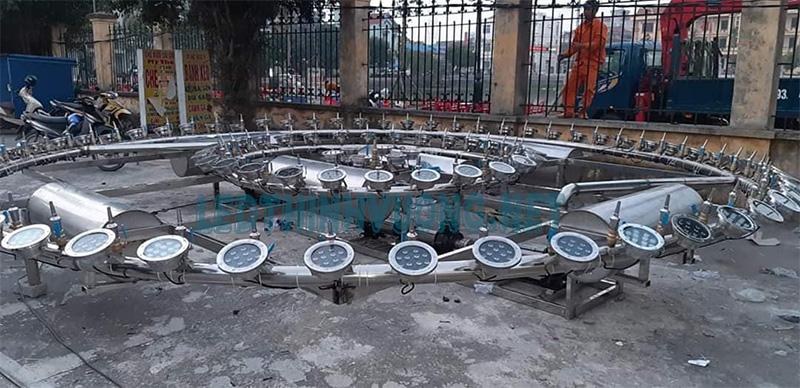 Đèn Led thả chìm âm nước cho đài phun phao nổi 1