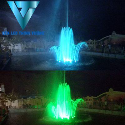 Đèn âm nước chân đế lắp cho đài phun nước phao nổi 1