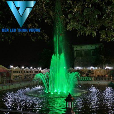 Đèn âm nước chân đế lắp cho đài phun nước phao nổi 2