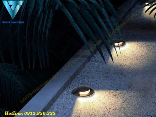 đèn led âm đất là gì? Lợi ích, ứng dụng của đèn led âm đất