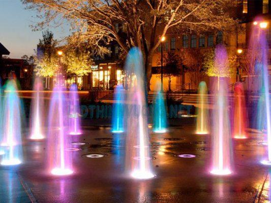 đèn led âm sàn cực đẹp lắp đặt tại khu đô thị phương đông vân đồn quảng ninh