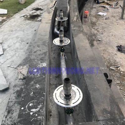 Đèn led chìm nước 12W có lỗ-đèn bánh xe-liên hệ 0912850335
