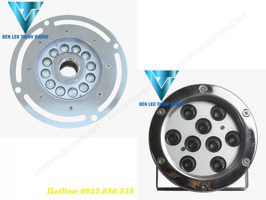Mua đèn âm nước 9W giá rẻ dạng bánh xe, chân đế chỗ nào tại hà nội